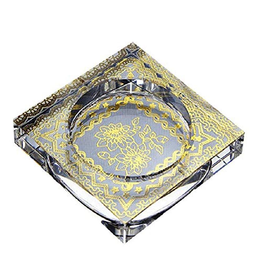 ぐったりゲインセイ蓮タバコ、ギフトおよび総本店の装飾のための灰皿の円形の光沢のある水晶灰皿