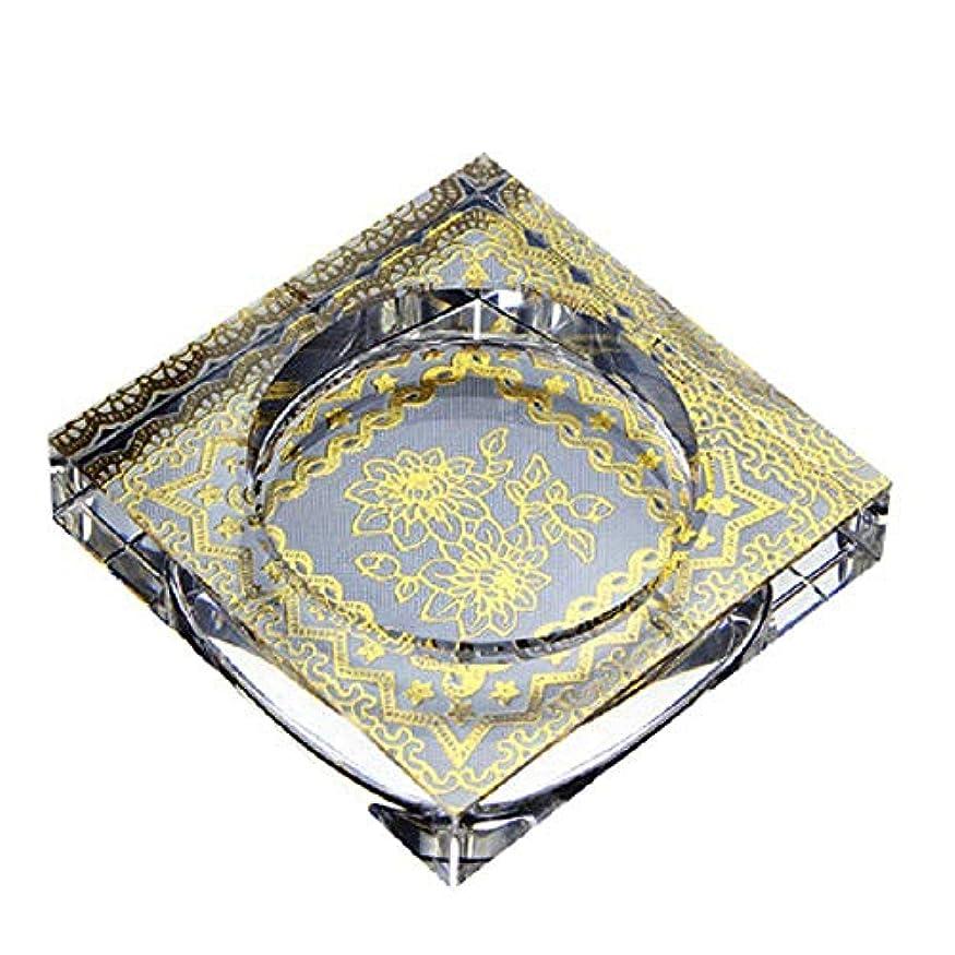 完璧なしわ戦術タバコ、ギフトおよび総本店の装飾のための灰皿の円形の光沢のある水晶灰皿