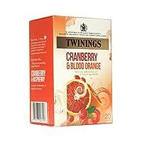 英国紅茶 トワイニング 日本未発売品 クランベリー&オレンジ ノンカフェイン ティーバッグ20入り