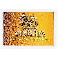 シンハー ビール マグネット type B(ゴールド×横タイプ) [タイ雑貨 Thailand SINGHA Beer Magnet]