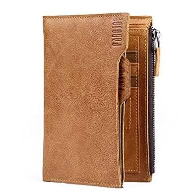 [パボジョエ] Pabojoe 財布 二つ折り メンズ レザー ウォレット 本革 ブラウン