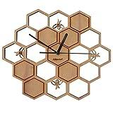 GIFT GARDEN 掛け時計 木製 蜜蜂 B6005