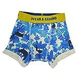 (オーシャンアンドグラウンド) ocean&ground キッズ ボクサーパンツ 1621045 SAFALEAF パンツ ブリーフ 下着 肌着 ベビー ジュニア コットン 綿 インナー プリント 子供 男の子