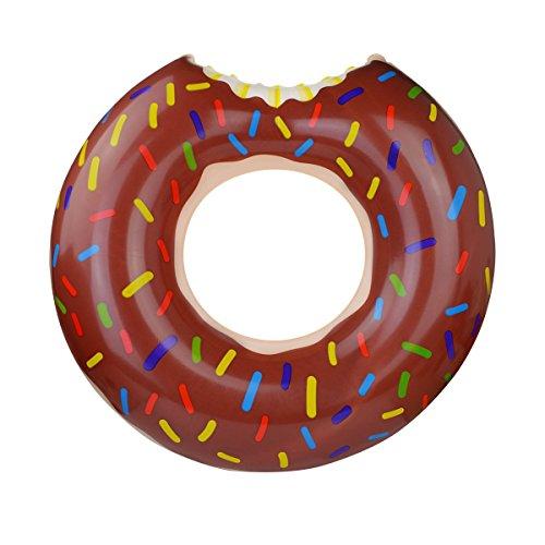 Fypo ドーナツフロート 浮き輪 直径 80cm 可愛い おしゃれ プール 海 水遊び(チョコレート)