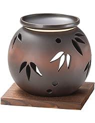 山下工芸 常滑焼 茶窯変笹透かし茶香炉 11×11.5×11.5cm 13045620