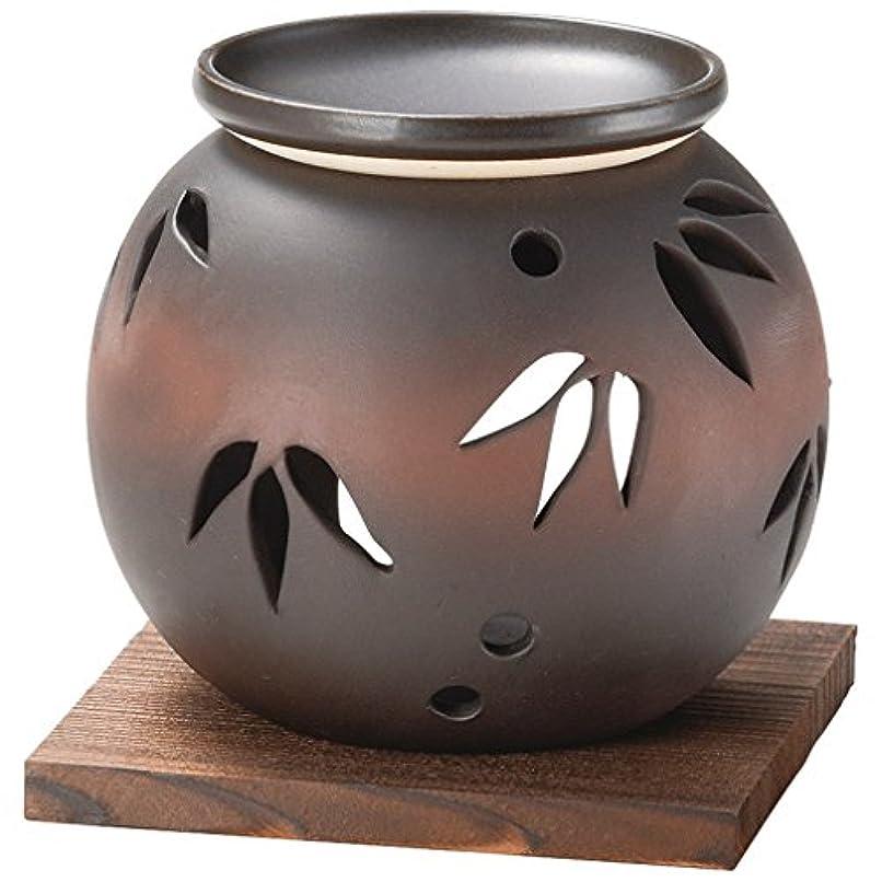 そばに孤独なフェローシップ山下工芸 常滑焼 茶窯変笹透かし茶香炉 11×11.5×11.5cm 13045620
