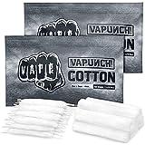 VAPUNCH Prime Organic Cotton for DIY Project - 30 Pcs Preloaded Shoelace Style Cotton + 10 Pcs bacon cotton-(2Bags)