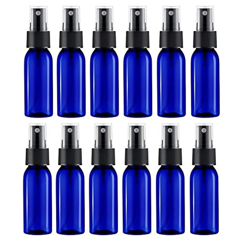 勘違いする従う優雅なスプレーボトル 12本セット 詰替ボトル 遮光 空容器 霧吹き(30ml ブルー)