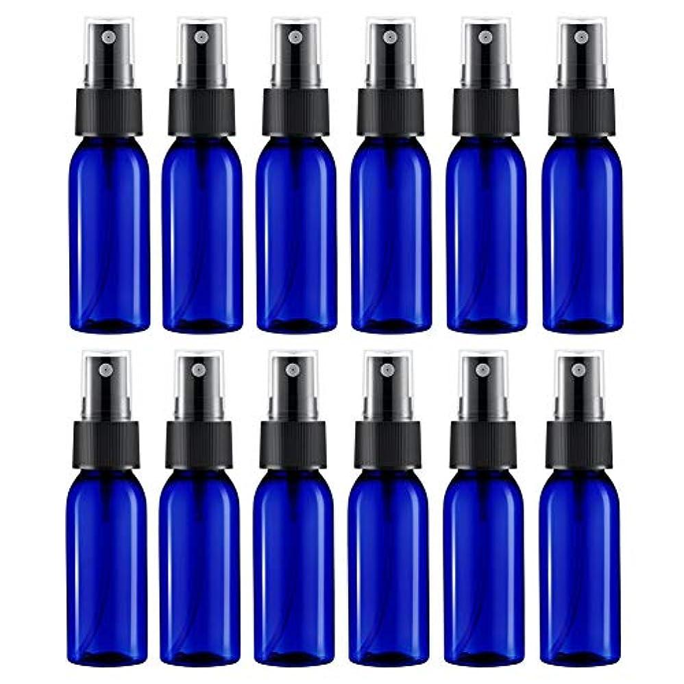 祝う一部アラブサラボスプレーボトル 12本セット 詰替ボトル 遮光 空容器 霧吹き(30ml ブルー)