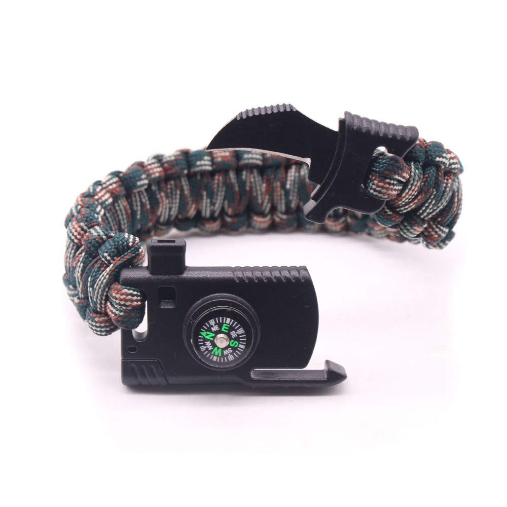 8994ad539d Survival Bracelet Multifunction Bracelet Compass Whistle Knife Fire Starter  Scraper Umbrella Rope Outdoor Camping Equipment Climbing Outdoor Living  Safety ...
