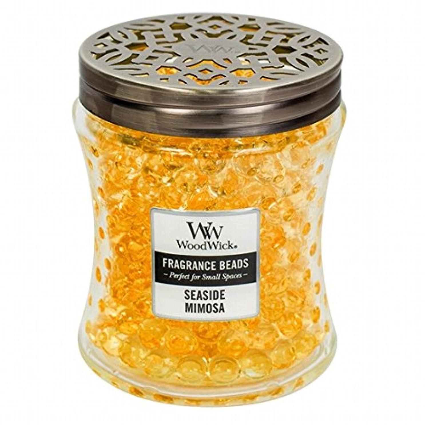 一般化する餌サーキュレーションウッドウィック( WoodWick ) Wood Wickフレグランスビーズ 「 シーサイドミモザ 」W9620539