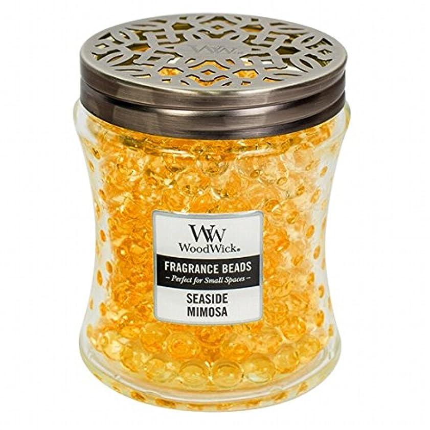 論理柔らかい追うWoodWick(ウッドウィック) Wood Wickフレグランスビーズ 「 シーサイドミモザ 」W9620539(W9620539)