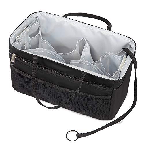f24ee83e5487 バッグインバッグ トート リュック 16ポケット 自立 収納整理 大容量 軽量 ナイロン インナーバッグ