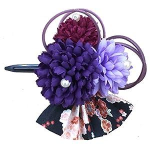 [粋花] Suika 和柄髪飾り 5139 パープル
