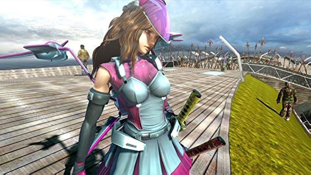 悲しむ脅かす何Onechanbara Z2: Chaos(お姉チャンバラ Z2 ~カオス~ ) DLC Pale Pink Gullwings & Pale Pink Visor [オンラインコード]