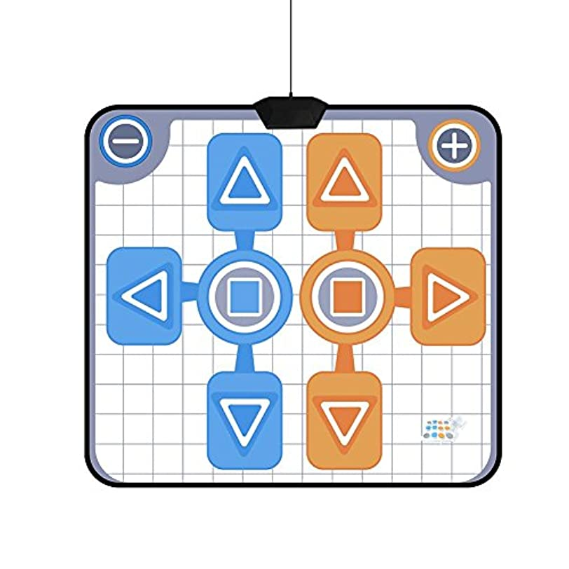 部分的に幻影手首ダンスマット ニンテンドーWiiコンソールゲーム用 滑り止め 小型 耐用 簡単に持ち運び 快適 二人で使用