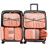 Cloudsky 6 Set/ 7 Set/ 8 Set Packing Cubes, Travel Storage Bags Multifunctional Clothing Sorting Packages, Travel Packing Pou