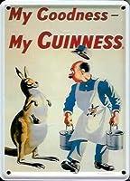 Guinness Kangaroo ギネスカンガルー金属はがき/ミニ看板 (hi pcard)