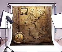 laeacco 8x 8ftビニール写真背景Sailingコンパス古代世界Marine Map木製Backdrop Exploration旅行テーマ個人フォトアート肖像画ビデオスタジオ撮影小道具2.5X 2.5M