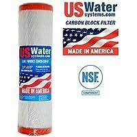US Water Lead & Cystカーボンブロックフィルタ| uswcb-2510-ld