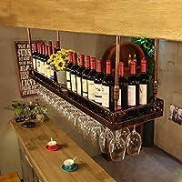 クリエイティブホームバー、ワインラックハンギングガラスホルダー、ワイングラスラック、シェルフワイングラスホルダー、ワイングラスラック、ワイングラスラック、シャンパングラスラック、ガラス器具ラック (色 : ブロンズ, サイズ さいず : 80 * 35cm)
