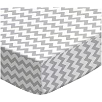 SheetWorld Fitted Cradle Sheet - Grey Chevron Zigzag - Made In USA by sheetworld