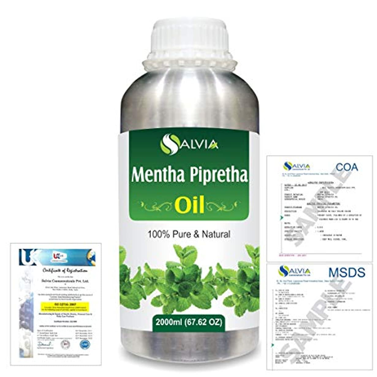 正確さ組み込む雰囲気Mentha Pipreta 100% Natural Pure Essential Oil 2000ml/67 fl.oz.