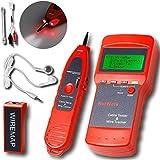 Mekarsoo (ME-03)ワイヤロケーター マルチケーブルテスター lan RJ45/RJ11対応 電話配線やLANケーブルの測定 ツイストペアケーブル測定 (電話線 電気 通信 工事)