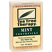 Toothpicks - 100 Toothpicks - Case of 12 by Tea Tree Therapy