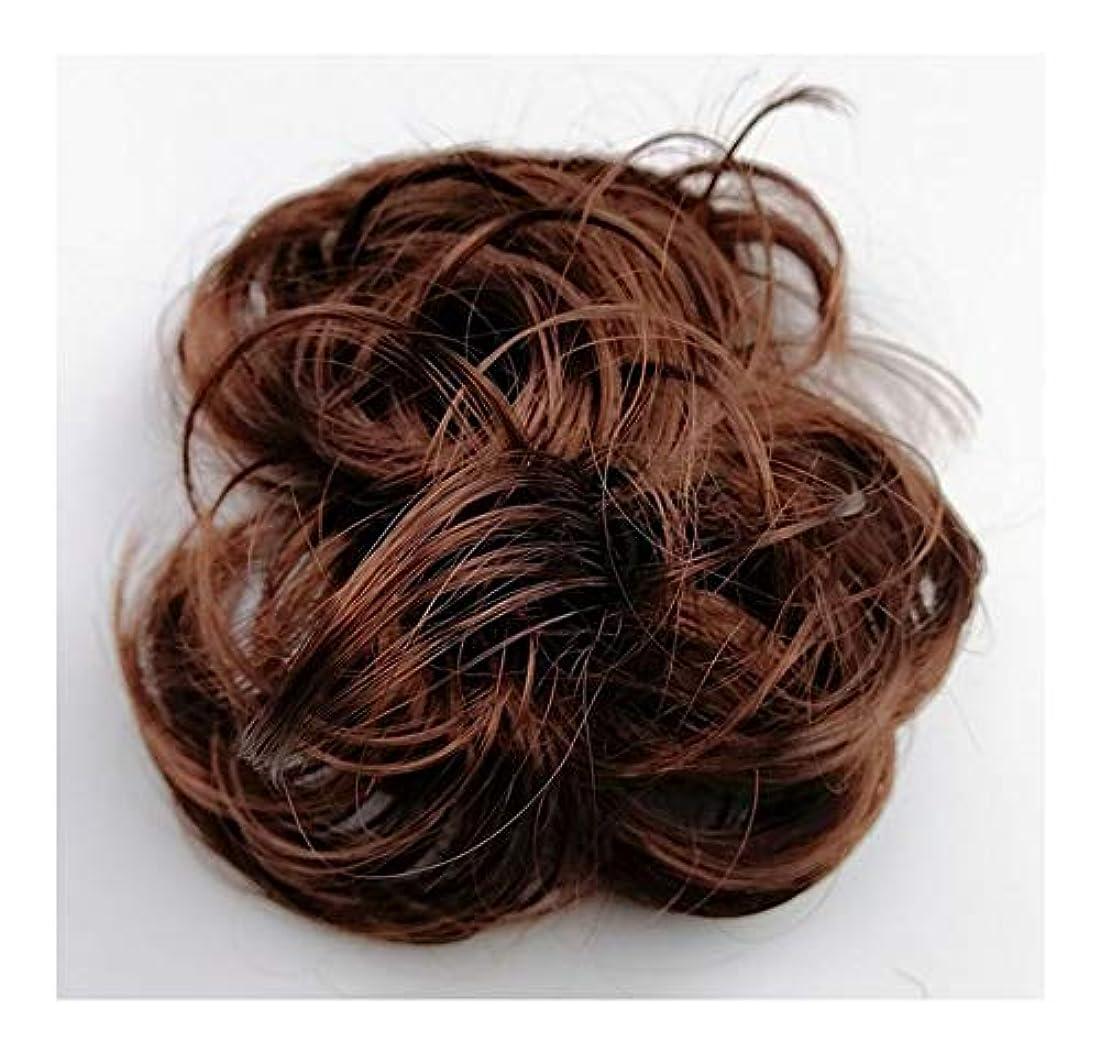 リースくさびパイプ乱雑な髪のお団子シュシュの拡張機能、女性用カーリー波状リボンアクセサリー、ポニーテールシニョンドーナツアップ
