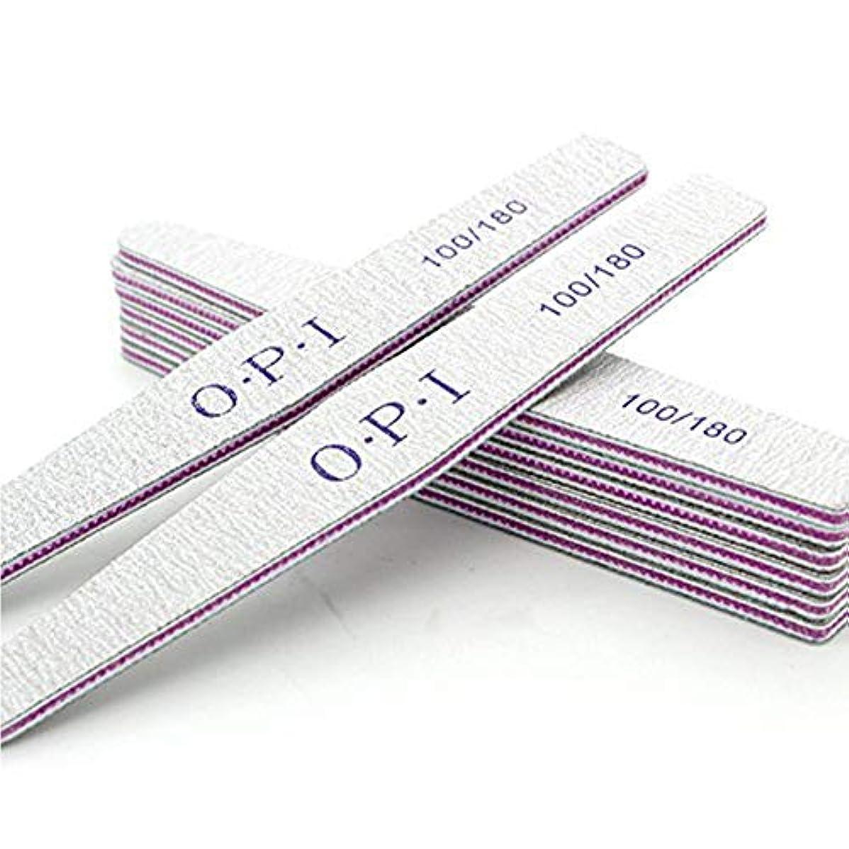 フレットいろいろ受粉者Orient Direct 10個ネイルバッファリングファイル両面エメリーボードグリット100 180グリットネイルファイルを適用するホーム&サロン用マニキュアペディキュアサイズ100/180