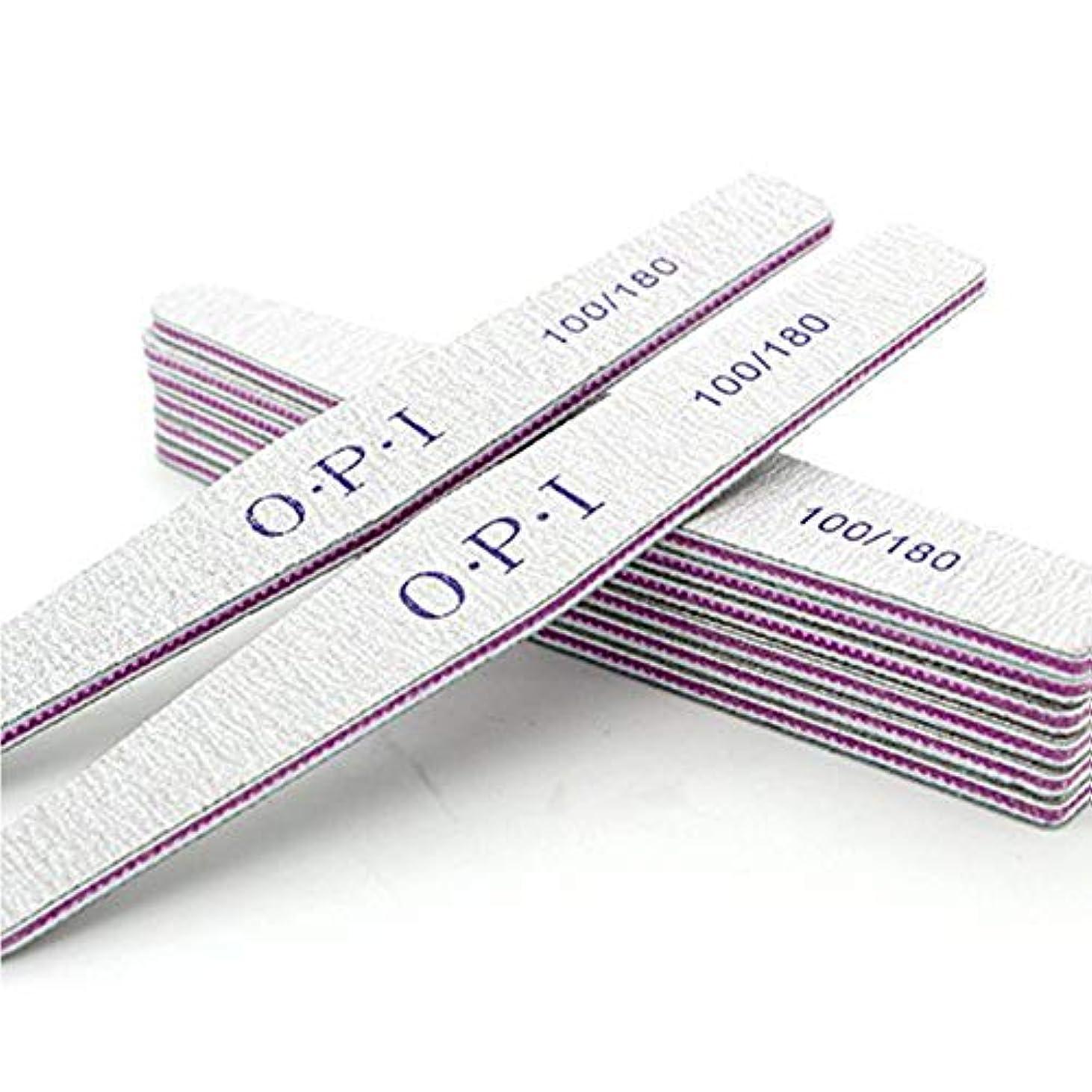 開拓者暴君分数Orient Direct 10個ネイルバッファリングファイル両面エメリーボードグリット100 180グリットネイルファイルを適用するホーム&サロン用マニキュアペディキュアサイズ100/180