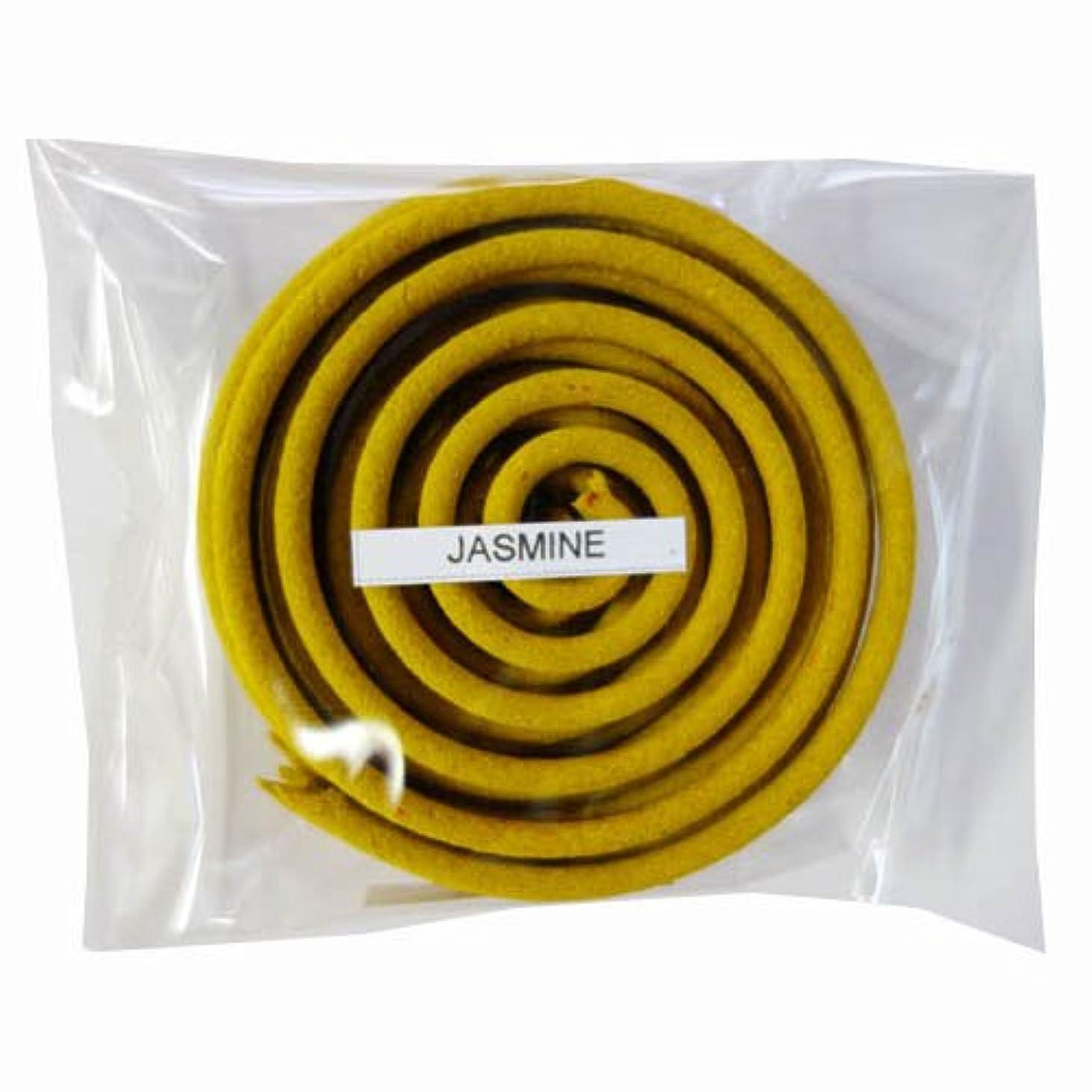 適応的提出するフリンジお香/うずまき香 JASMINE ジャスミン 直径6.5cm×5巻セット [並行輸入品]