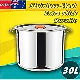 Generic et Stainles Kitchen Set Hen Set S Pots Cooking chen Set 30L Cookware Casserole ck Pot Stainless Steel asserole St Stockpot Stock