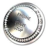 【 Benz CLS-CLASS(W218) スタートボタン の結晶成形アクセサリー 】 Mercedes Benz メルセデス ベンツ アクセサリー インテ リア 成形 高級でクラシックなデザイ Silver [並行輸入品]