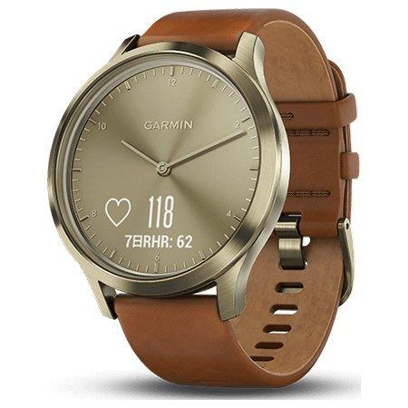 [ガーミン]GARMIN ヴィヴォムーブ vivomove HR Premium Gold スマートウォッチ ウェアラブル端末 腕時計 メンズ レディース 010-01850-75 [正規輸入品]