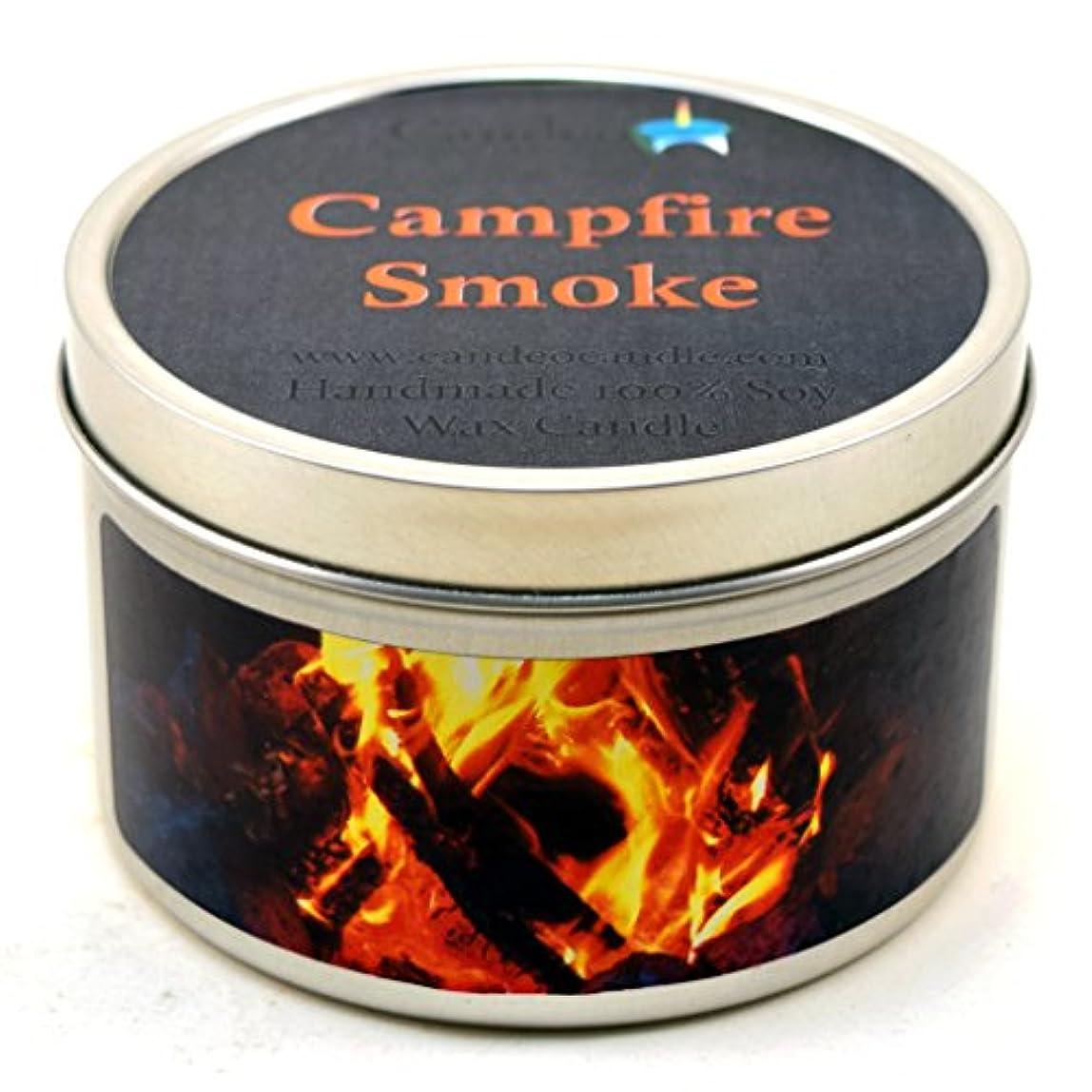 バドミントンお酢泣く(180ml) - Campfire Smoke Super Scented Soy Candle Tin (180ml)