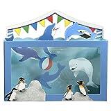 夏カード 水族館イルカ&ペンギン SAR-705-558 (ホー121) 立体カード ホールマーク
