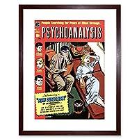 Comic Psychoanalysis Psychiatrist Patient Couch Framed Wall Art Print