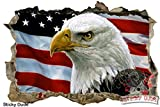 3d効果American Eagle /アメリカ国旗壁デカール–高解像度印刷取り外し可能/ DIYの壁のステッカー、壁、天井、キャビネット、クローゼット、またはホームデコレーション - 13,773 円