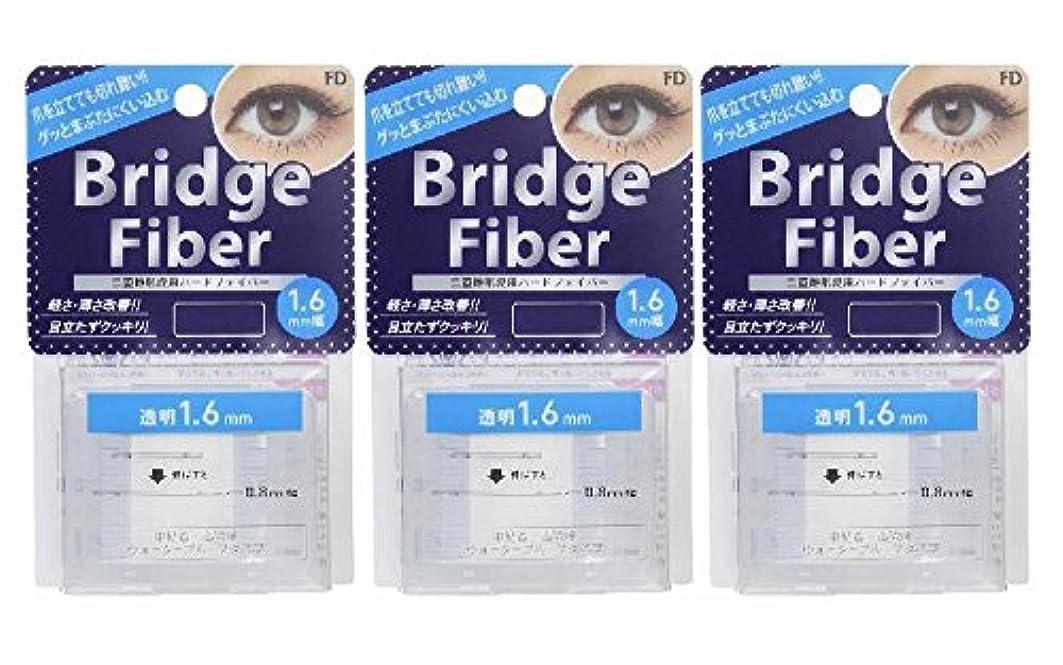 磁器拮抗するデンマークFD ブリッジファイバーII (眼瞼下垂防止テープ) 3個セット 透明 1.6mm