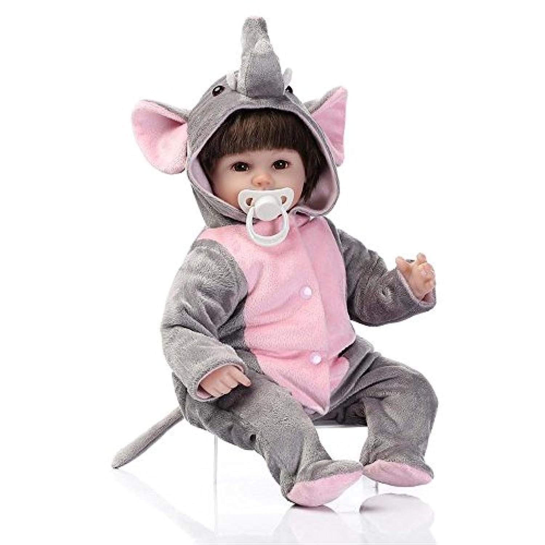 人形 リボーンベビードールソフトシミュレーションシリコーンビニールインチの40センチメートル磁気口リアルなアクリルの目でかわいい子供のおもちゃピンクのベアルーシー 6/8/10 ヶ月 赤ちゃん おもちゃReborn Baby Doll JP Christmas Gift