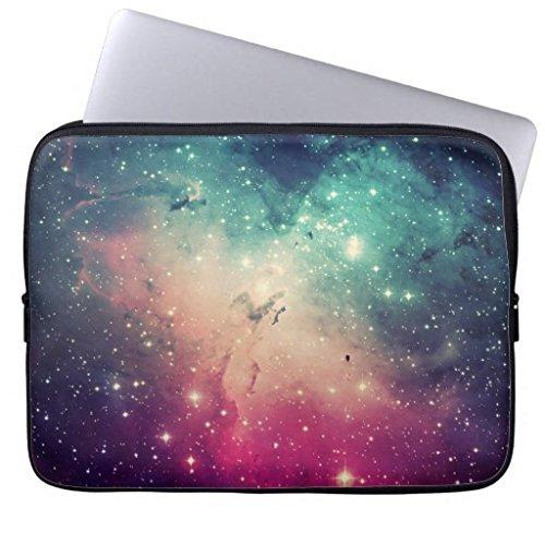 OneMtoss ラップトップスリーブ [10/ 12/ 13/ 15インチ対応] 星雲 宇宙 銀河系 カラフル ブリーフケース インナーバッグ ンナーケース PCケース ノートパソコン収納バック ノートパソコンケース バッグ スリーブ [ラップトップ/ノートブックPC/MacBook / MacBook Pro / MacBook Air / Acer / Asus / Sony / Fujitsu / Lenovo / HP / Samsung / Toshiba など対応]