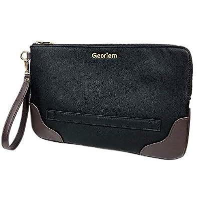 【Onni Bag】メンズ向けクラッチバッグ/結婚式・ビジネス・バックインバッグ・出張・旅行・プライベートに (ブラウン)
