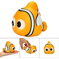 OVERMAL おもちゃ ストレス解消 香り付き 超低反発 子供のおもちゃ かわいい動物のおもちゃ 魚のスクイーズ