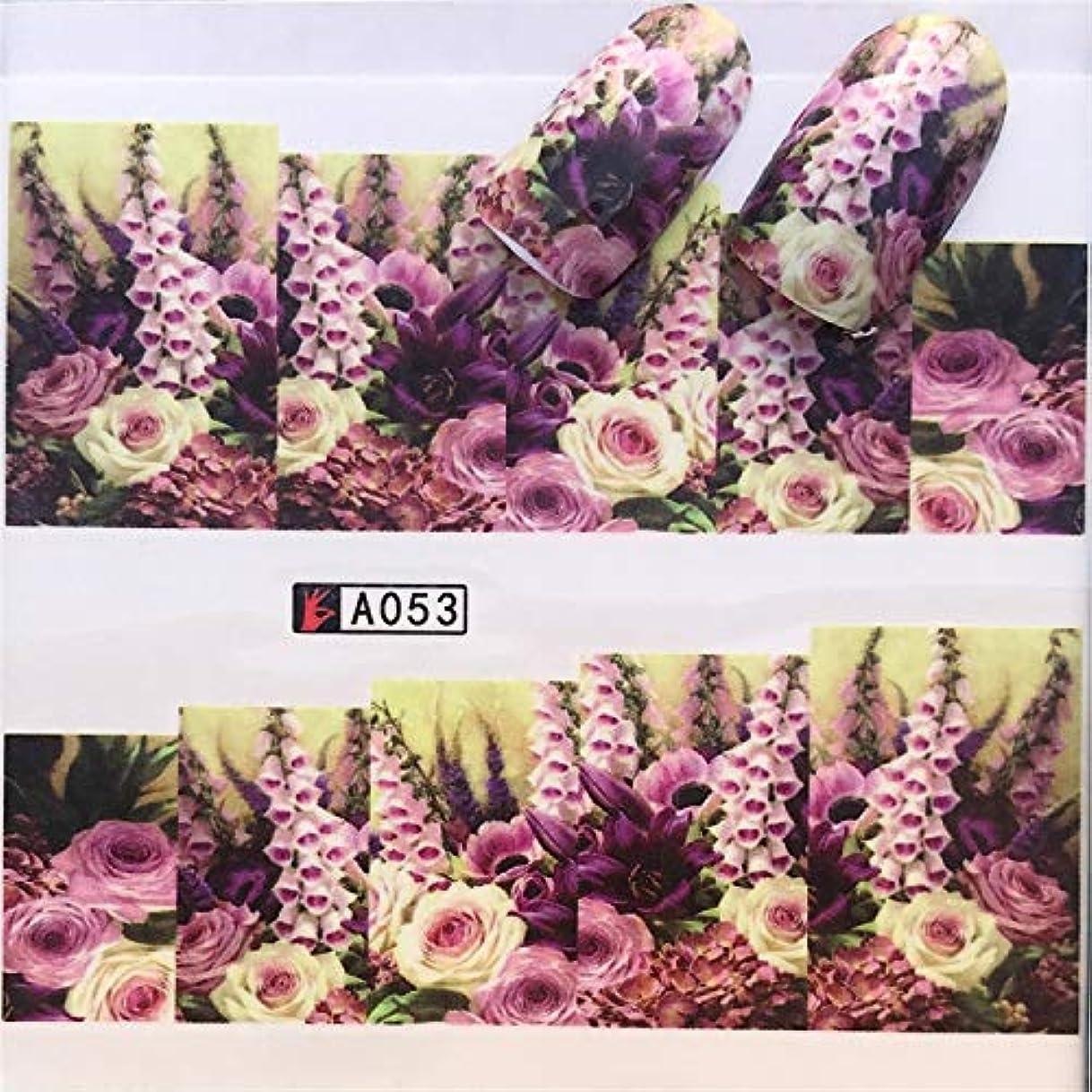 準拠サイズ集計手足ビューティーケア 3個ネイルステッカーセットデカール水転写スライダーネイルアートデコレーション、色:YZWA053