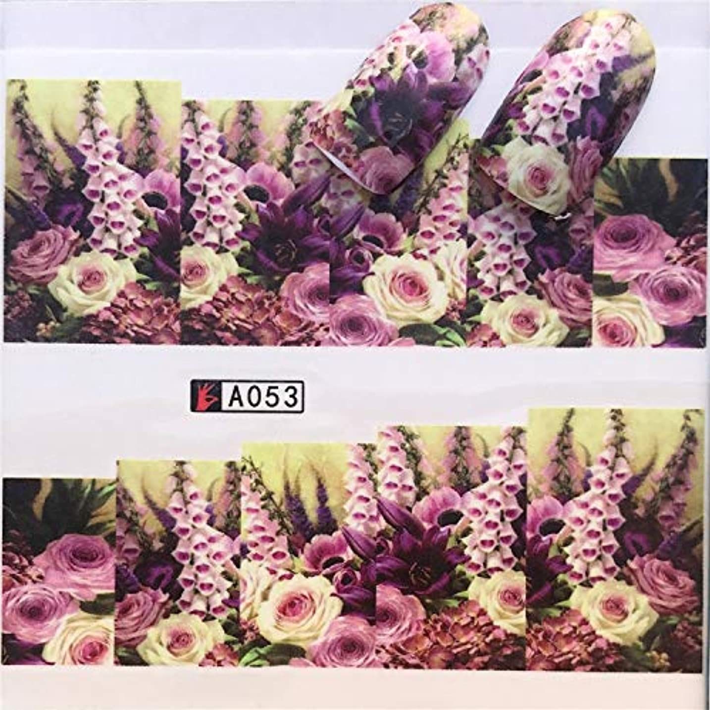 ママドール豚肉手足ビューティーケア 3個ネイルステッカーセットデカール水転写スライダーネイルアートデコレーション、色:YZWA053