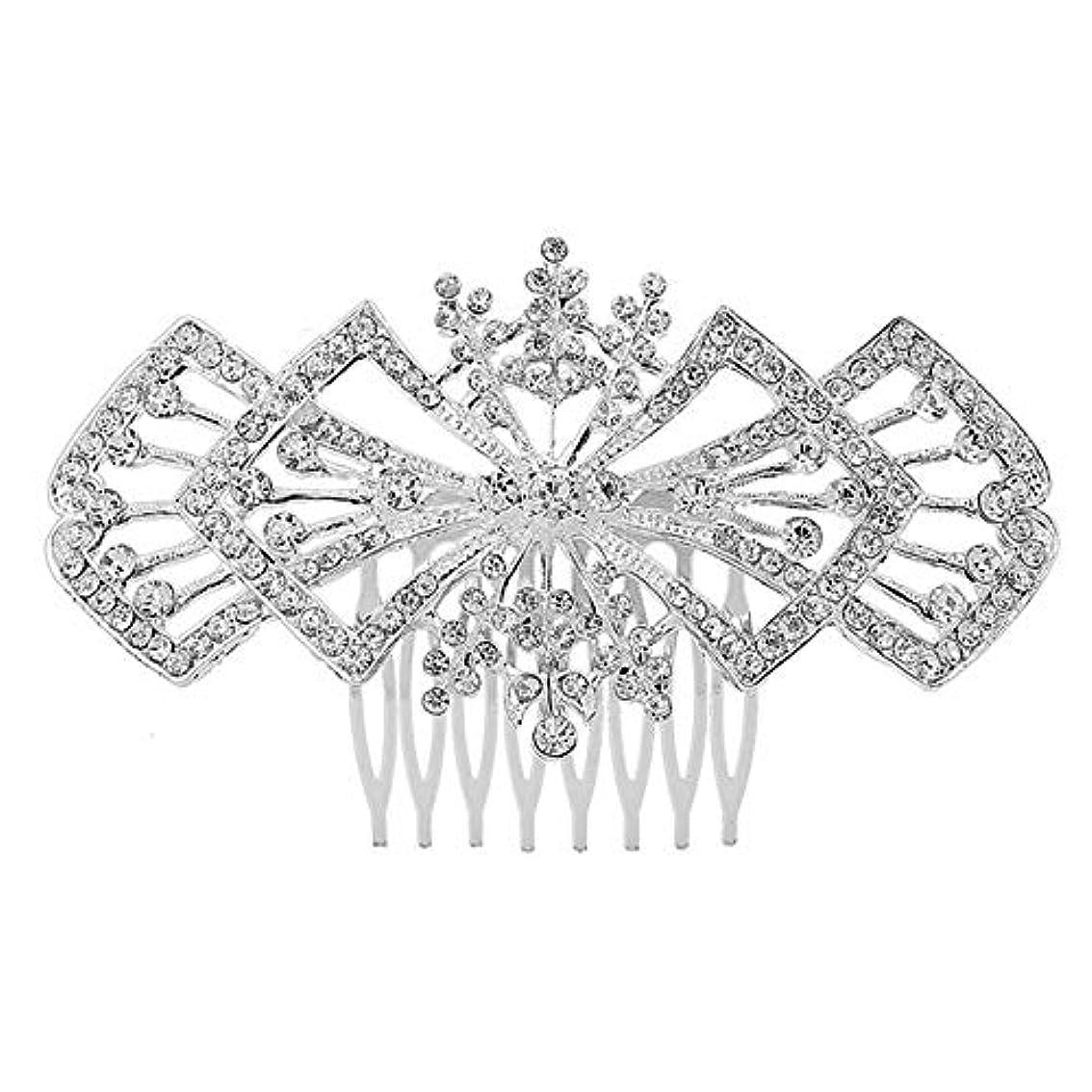 アルカトラズ島光のジョグ髪の櫛の櫛の櫛の花嫁の髪の櫛の花の髪の櫛のラインストーンの挿入物の櫛の合金の帽子の結婚式の宝石類