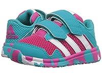 [アディダス] adidas Kids ガールズ Snice 4 CF (Toddler) スニーカー Equipment Pink/White/Shock Green 9.5 Toddler(15.9cm) - M [並行輸入品]
