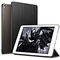 iPad Pro 9.7 ケース クリア ESR iPad Pro 9.7 カバー レザー PU スタンド機能 スリム傷つけ防止 オートスリープ ハード 三つ折タイプ iPad Pro 9.7 インチ スマートカバー (ミステリアスブラック)